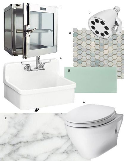 In anticipation for our Sept. 7 First Friday Program on bathroom design: 10 Dreamy Bathroom Inspiration Boards (via @Apartment Therapy)