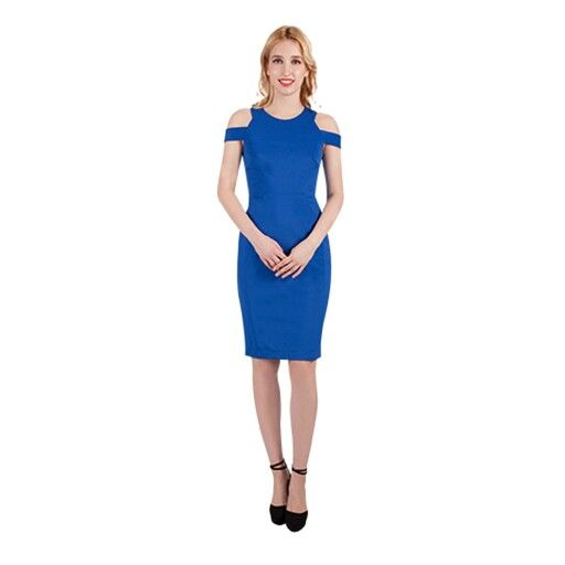 Beautiful cut-out style fitted dress, great colour for Spring races