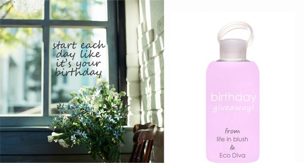 it's my birthday! win yourself a bkr 'cupcake' water bottle from life in blush and eco diva beauty - today only so enter now! (contest ends midnight June 12, 2014 and open to US & Canadian)