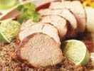 Filetto di maiale impanato a secco con salsa di pomodoro cotta al fuoco