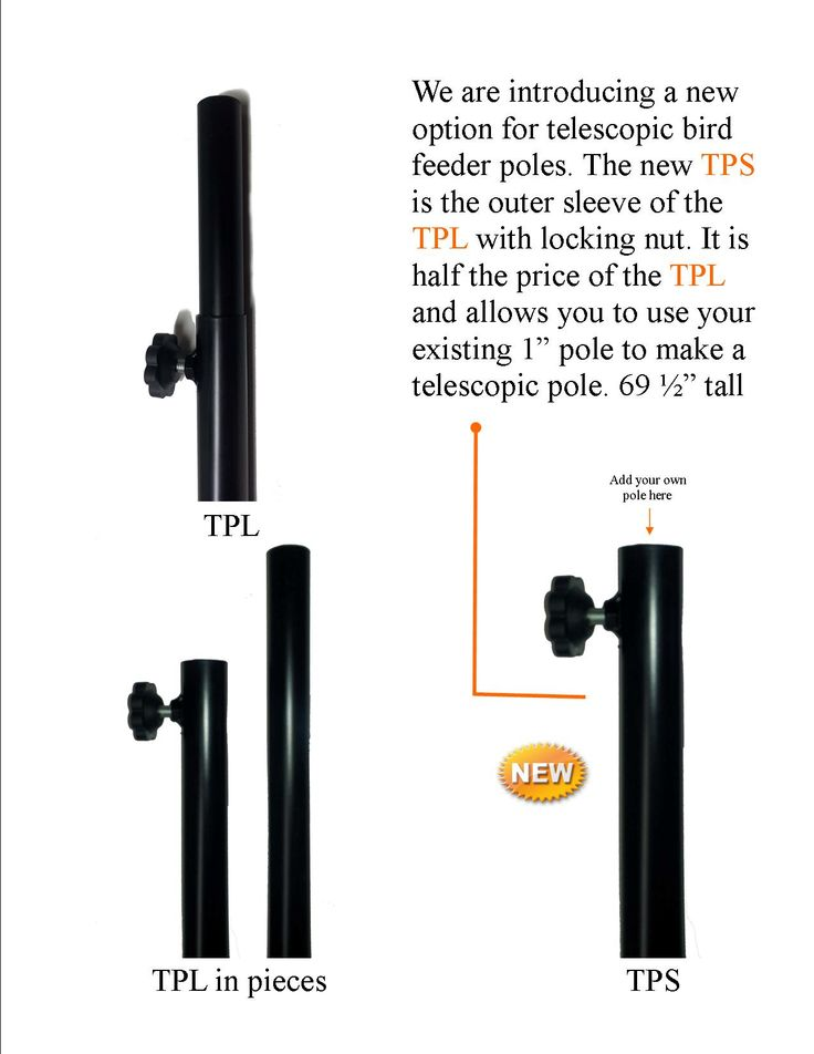 "TPS  Sleeve for Telescopic pole (sleeve only) Sleeve for adapting existing 1"" poles to a telescopic pole. 69 1/2"" tall. Powder coated"