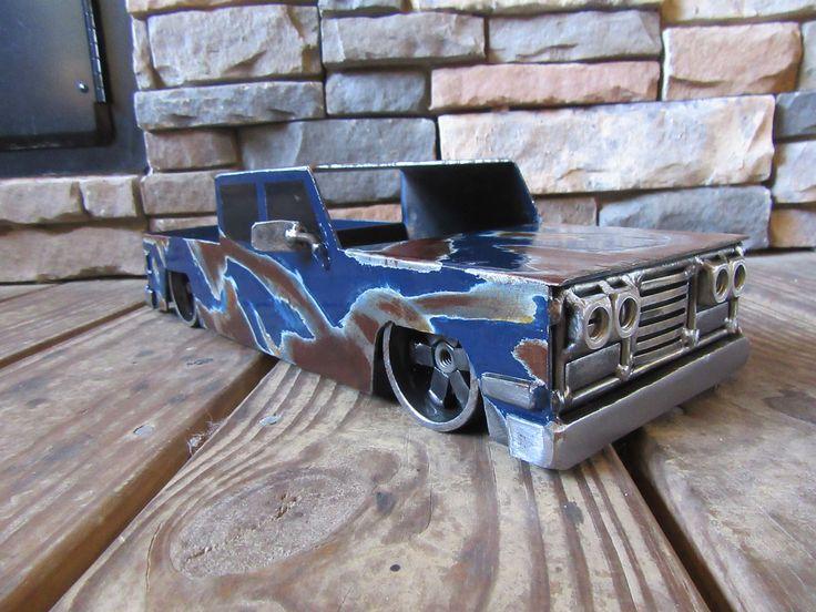 Custom Welded Steel Truck Fenders : Best scrap metal art hot rods rat trucks images