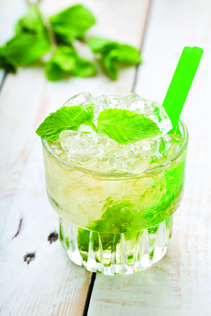 oz simple syrup, 12 kaffir lime leaves. Muddle the kaffir lime ...