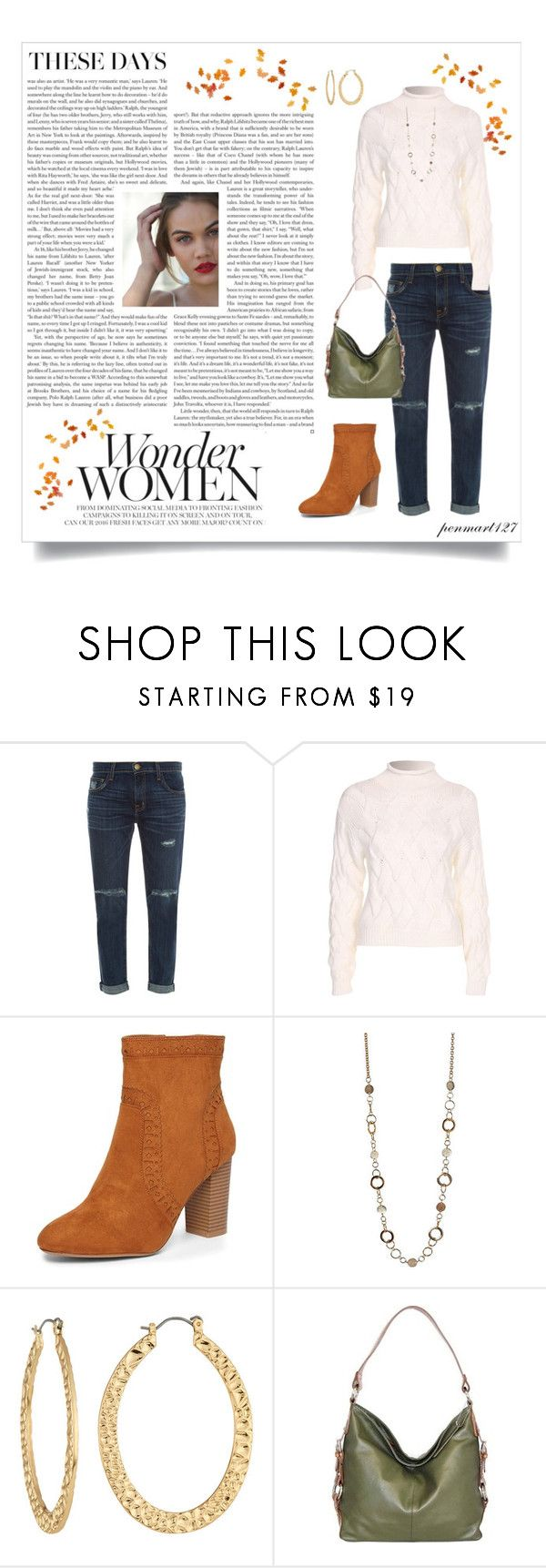 """""""Untitled #1652"""" by penny-martin on Polyvore featuring Current/Elliott, Filippa K, Dorothy Perkins, Fragments and Nino Bossi Handbags"""