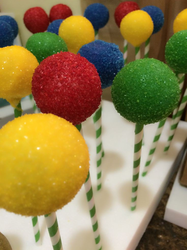Sesame Street themed cake pops