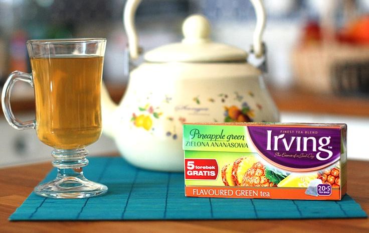 zapraszamy na recenzję zielonej herbaty Irving o smaku ananasa: http://www.yetea.pl/Blog/Maj-2013/herbata-irving-zielona-ananasowa-opinie.aspx