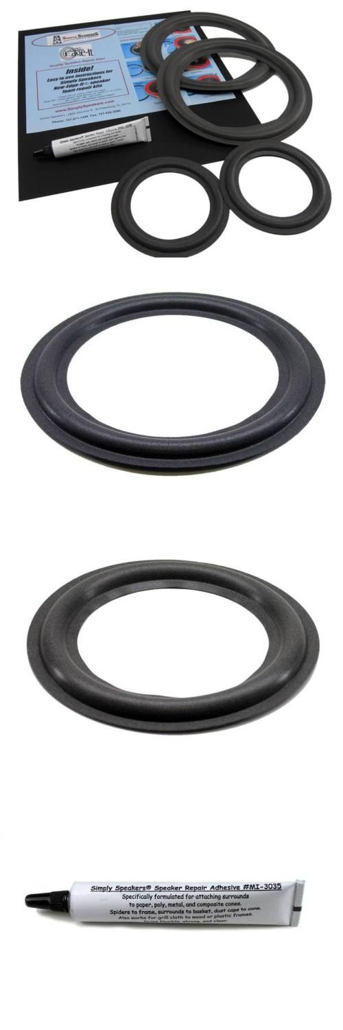 Speaker Parts and Components: Infinity Reference Four 8 Woofer And 5 Mid Speaker Foam Surround Repair Kit BUY IT NOW ONLY: $34.15