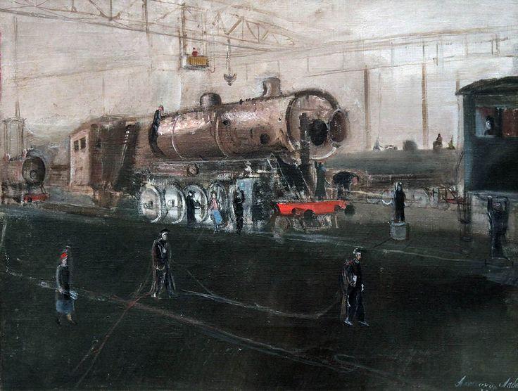 Александр Лабас, Луганск. На заводе. 1935. Холст, масло. ГТГ