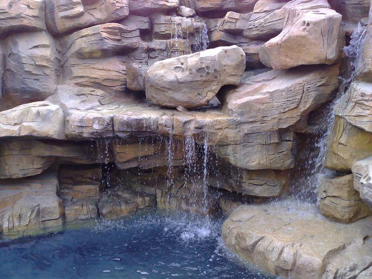 Rock Pool detailed background waterfalls