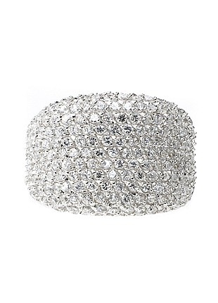 Georgini Jewellery Large Pave Concave Ring