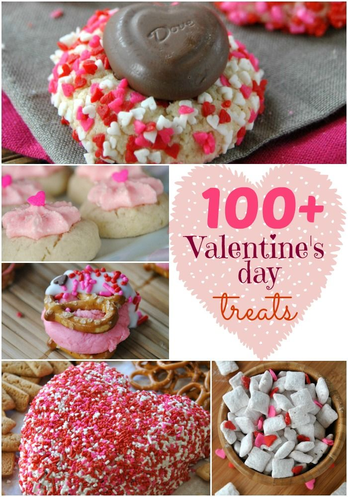 100+ Valentine's Day recipes. Treats and sweets! @Shugary Sweets