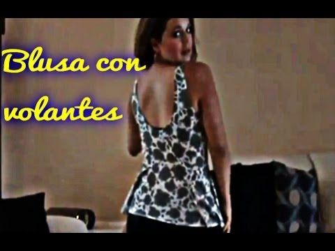 Como Hacer Una Blusa Con Volantes DIY How To Make A Blouse With Ruffles - YouTube