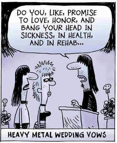 Heavy metal wedding vows