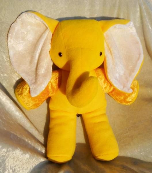 When last did you HUG AN ELEPHANT?  Looking for a handmade softie baby shower gift?  Come visit my OOAK happy color stuffed elephants #stuffedelephant #forbabyshower #babyshowergifts #stuffedanimals #handmade #yellowelephant #yellowplushie TALLhappyCOLORS.Etsy.com