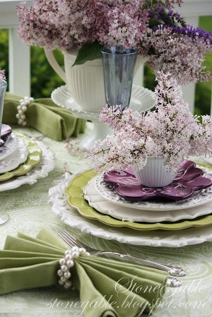 ❤❤❤ Copyrights unknown. Lavender and lime.