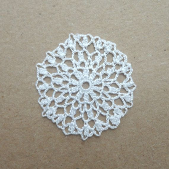 "Miniature crochet round doily in white 1"" by MiniGio"