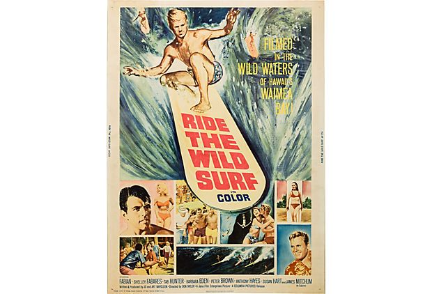 Ride the Wild Surf Movie Poster, 1964