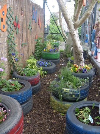 """Avenue Tyre Garden in Leicestershire ("""",)"""