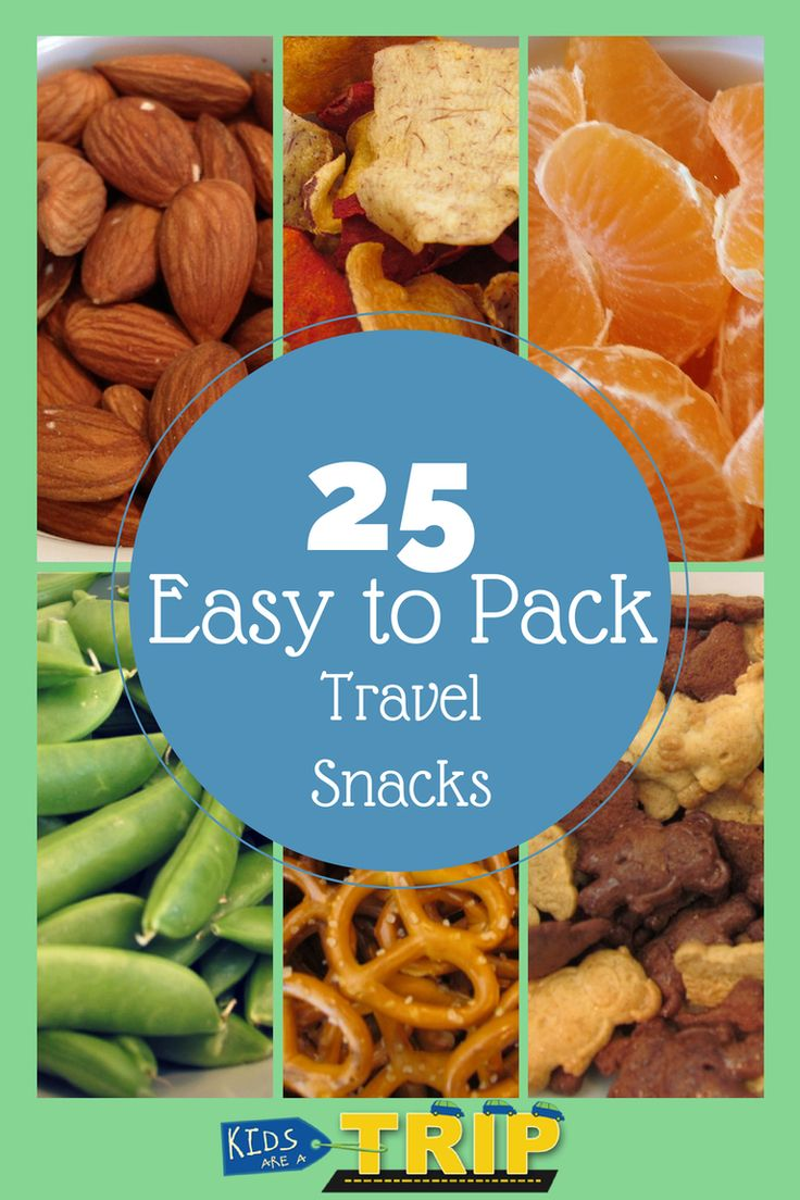 25 EASY TO PACK TRAVEL SNACKS