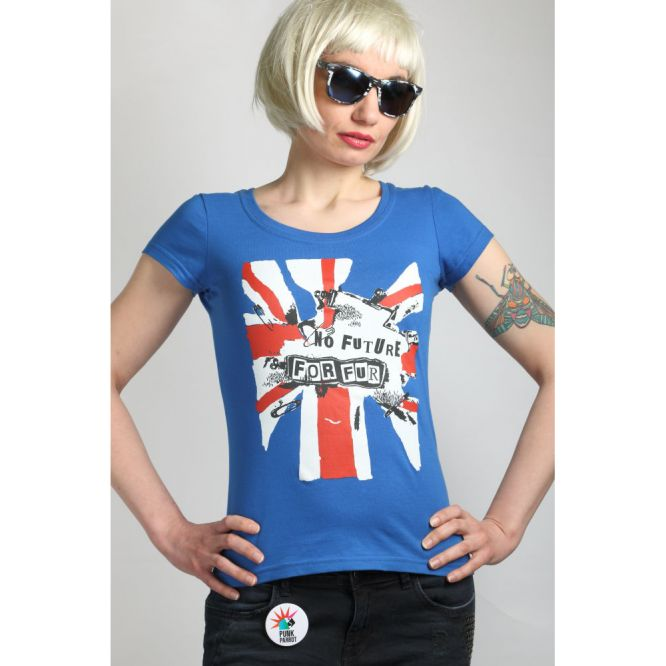 Anti-fur, punk, VEGAN, women's T-shirt NO FUTURE FOR FUR