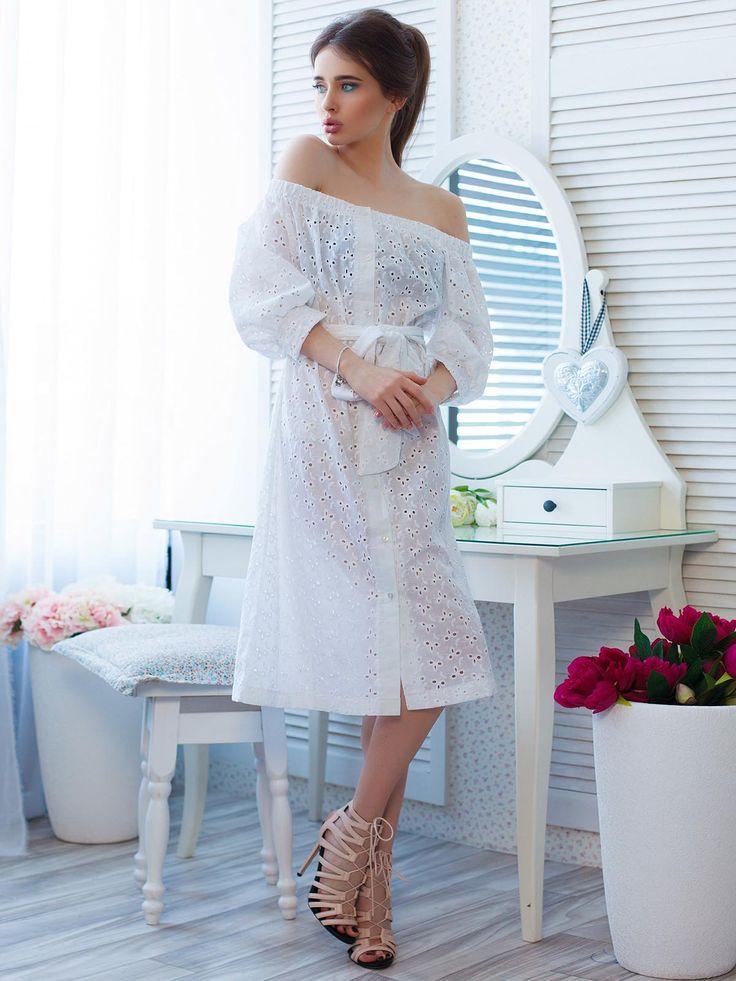 Платье белое - Miss Queen - 2406928