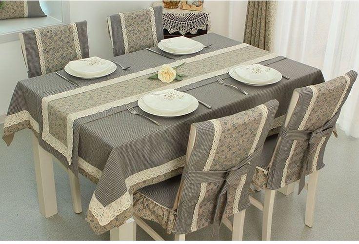 Hermoso juego de cobertores de sillas y comedor!!!