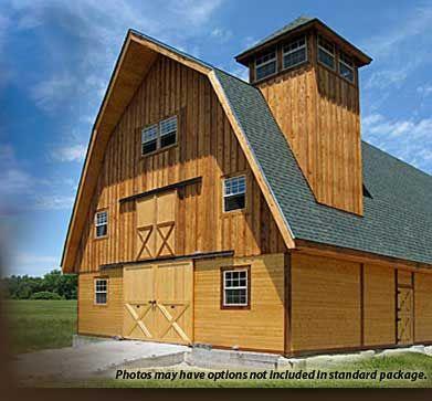 29 best gambrel barn plans images on pinterest barn for Gambrel roof pole barn kits