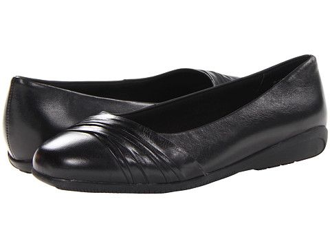 Walking Cradles - Flick (Black Waxy Soft Leather) Women's Slip on Shoes