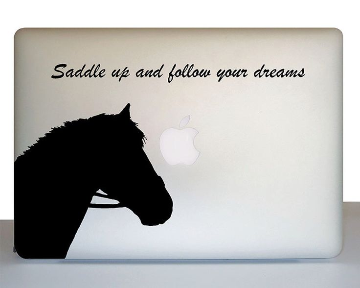 Laptop horse decal, Gift for horse lover, Horse sticker, Horse theme, Horse decor, Western decor, Western theme, student gift, Cowboy theme by WallAwake on Etsy https://www.etsy.com/listing/225382599/laptop-horse-decal-gift-for-horse-lover