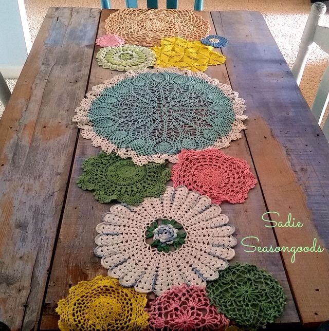 Table runner #table #vintage #chic #farm