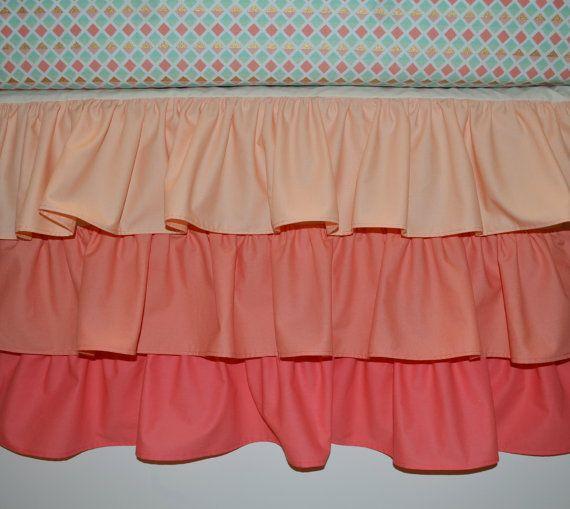 Waterfall Crib Skirt Ruffled Crib Skirt by SprinkledWithKisses