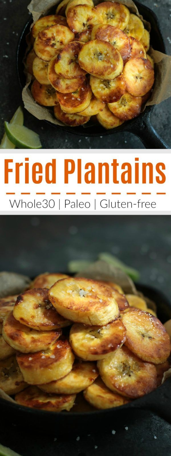Fried plantains are a delicious and easy starch option to add to any meal. Crunchy on the outside, soft on the inside. For a vegan-friendly option, substitute coconut oil for the ghee. | The Real Food Dietitians | https://therealfoodrds.com/fried-plantains-whole30/