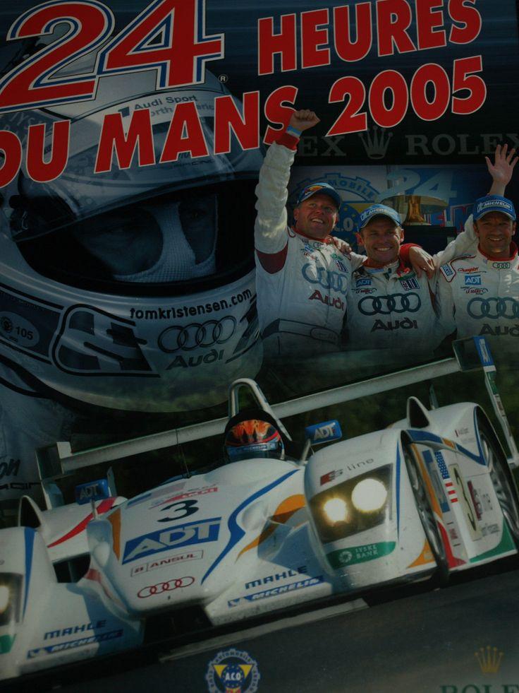 24 HOURS HEURES LE MANS OFFICIAL YEARBOOK ACO 2005 AUDI R8 JJ LEHTO KRITENSEN   eBay