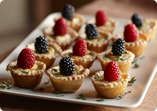 Driscoll's Savory Cheese Tartlets with Mixed Berries www.driscolls.com  #driscolls and #sweepstakes