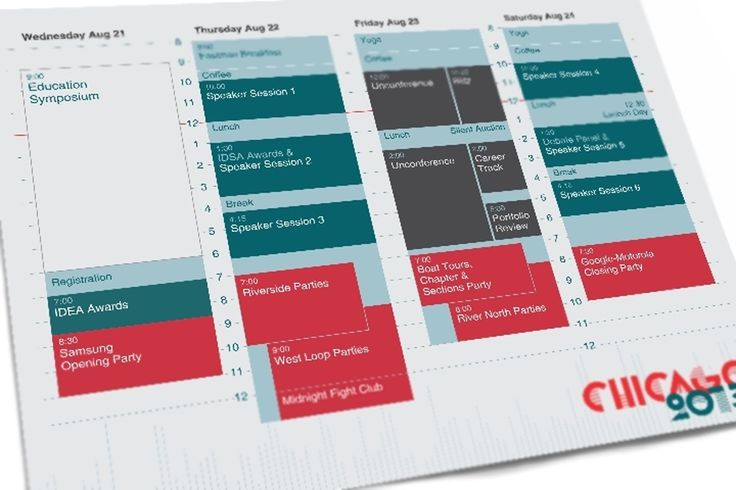 convention schedule design - Google Search