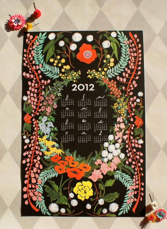 beautiful language of flowers calendar by the house that lars built.