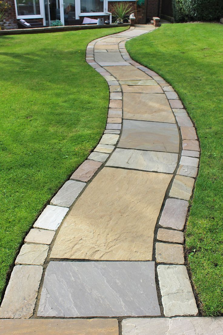 Traditional Patio | Garden Seating | Harvest Sandstone Flagstones |  Landscaping | Patio | Hand cut