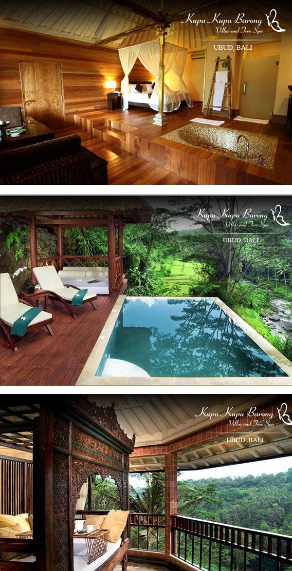 Kupa Kupa Barong Villas and Tree Spa... Yes, Tree spa! Bali!
