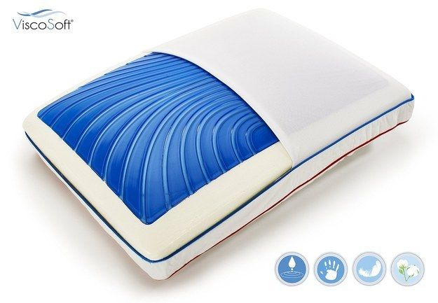 This cooling memory foam pillow that perfectly complements your cooling mat. | 31 Things You Need For The Best Night's Sleep Of Your Life