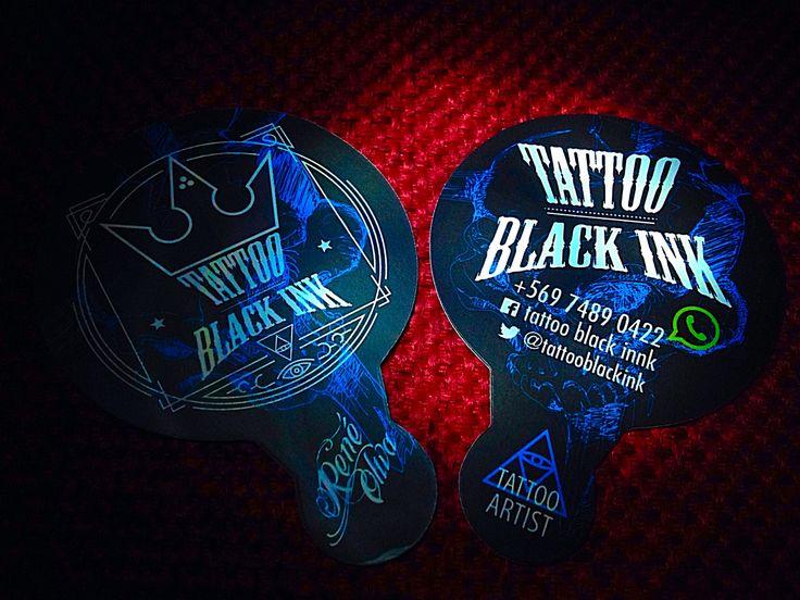 Tarjetas tattoo black ink tiro/retiro