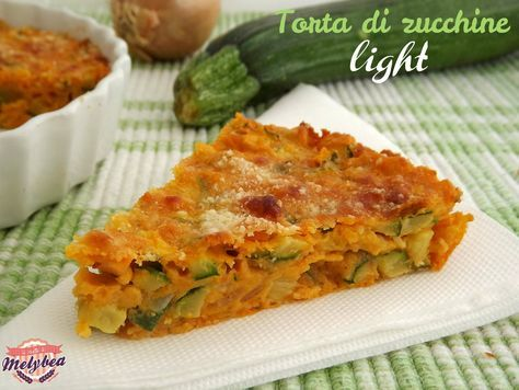 Torta di zucchine light - Le ricette di Melybea