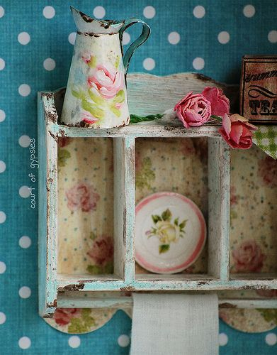 Handmade Dollhouse Miniature 'vintage enamelware'