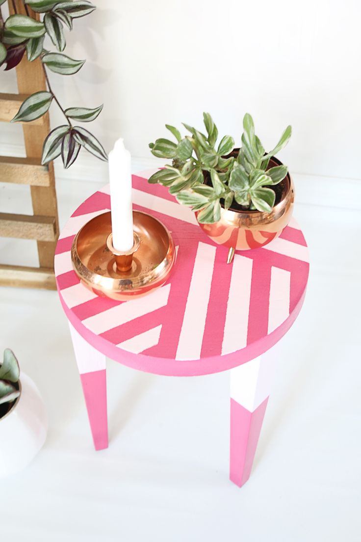 Super Simple Painted Stool Makeover | Hello Lidy for Curbly