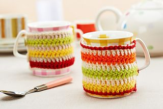 Keep your mugs warm by wrapping them in smart cup cosies