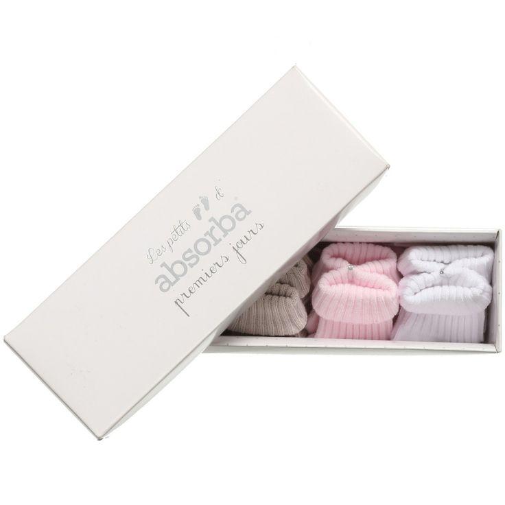 Absorba Baby Girl Cotton Socks (4 Pairs)