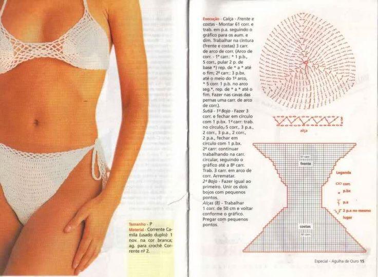 97 best TRAJES DE BAÑO images on Pinterest | Crochet bikini ...