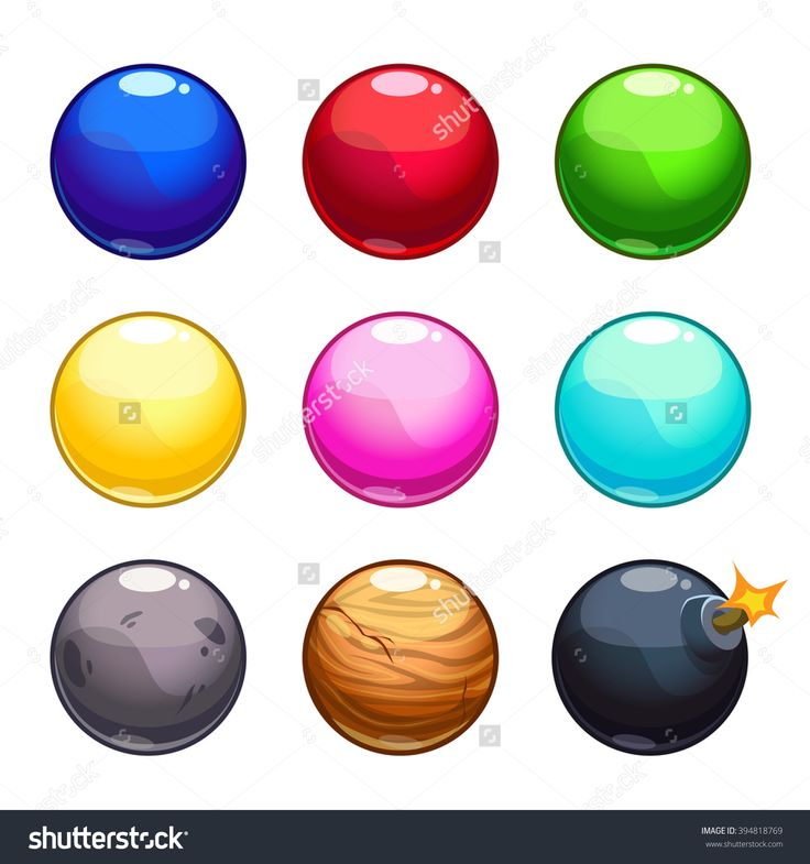 Cartoon Colorful Bubbles Balls Set, Vector Game Assets Isolated On White…