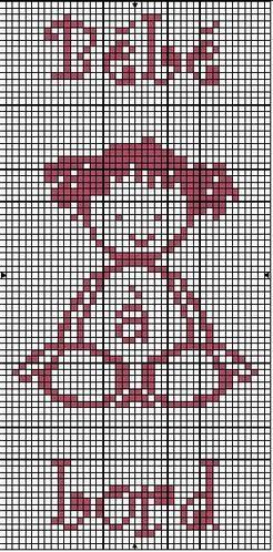 Bébé - baby - bébé à bord - point de croix - cross stitch - Blog : http://broderiemimie44.canalblog.com/