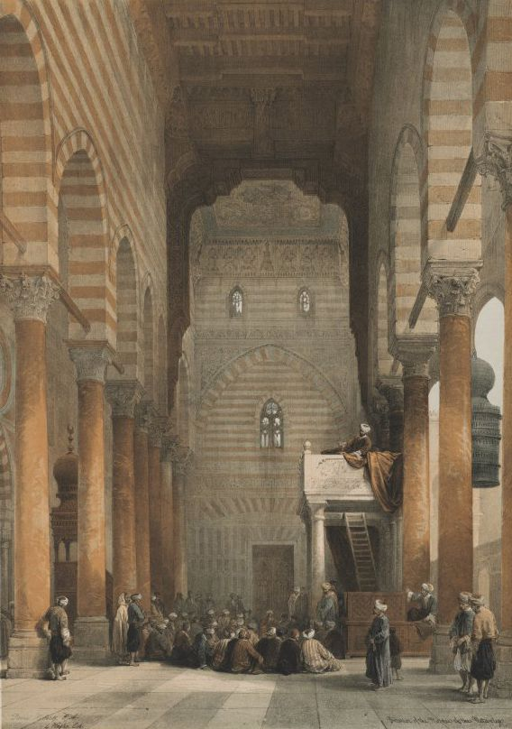 David Roberts - 1849 Egypt and Nubia, Volume III; Interior of the Mosque of the Metwalys