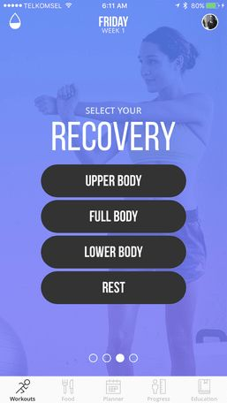 Kayla Itsines App - recovery